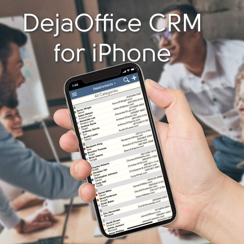DejaOffice on iPhone