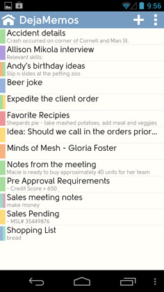 Android notes & memos app